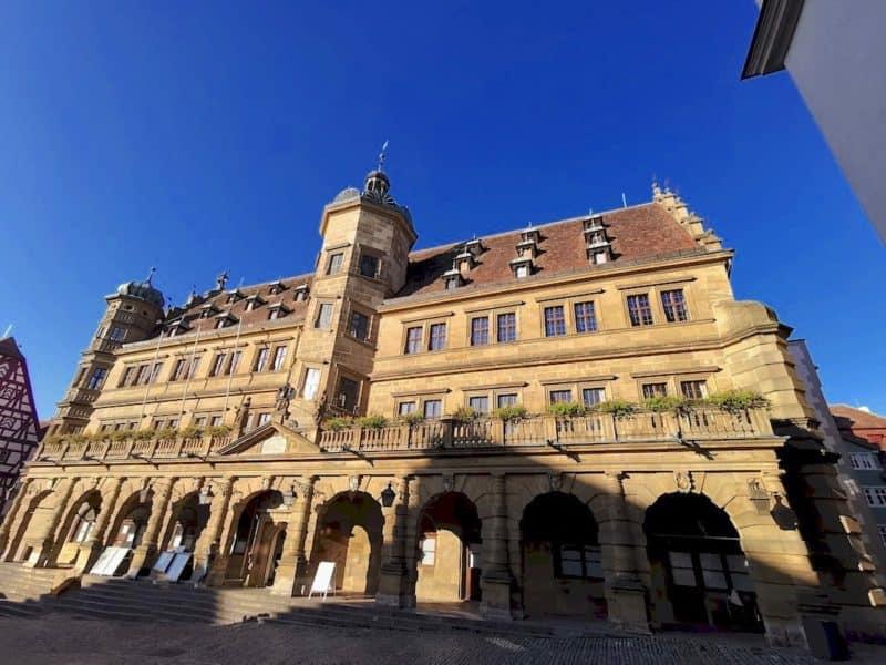 Das Rathaus Rothenburg ob der Tauber, Startpunkt unserer Rundwanderung