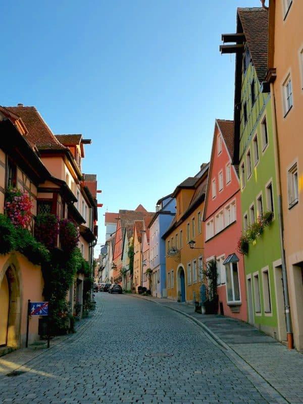 Blick in die Wenggasse Rothenburg ob der Tauber