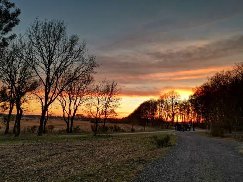 Sonnenuntergang während der Kohlwanderung