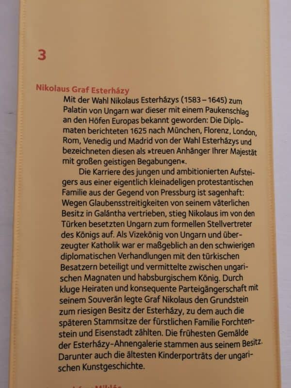 Infotafel zu Nikolaus Graf Esterhazy