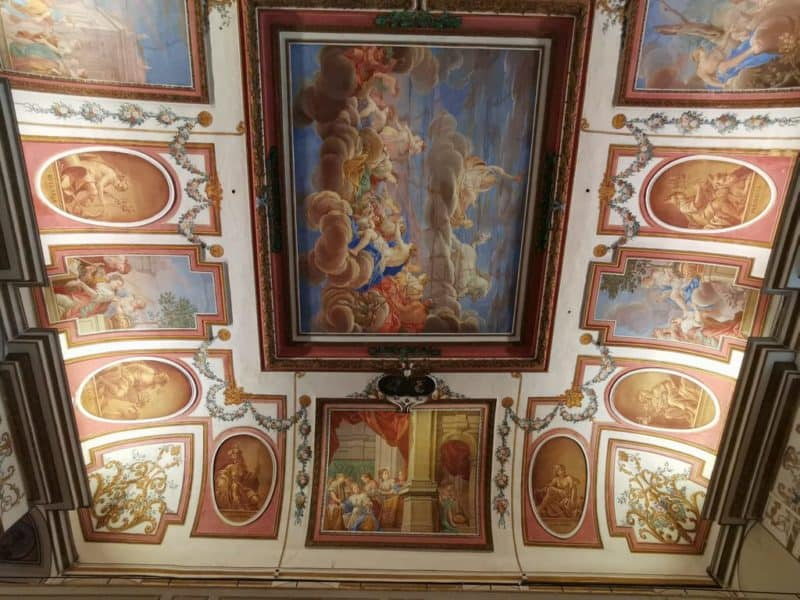 Deckenmalerei im Haydnsaal des Schlosses Esterházy