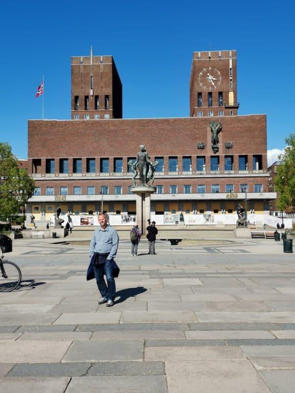 Das Rathaus in Oslo - nur wenige Meter weiter lag unser Schiff vor Anker