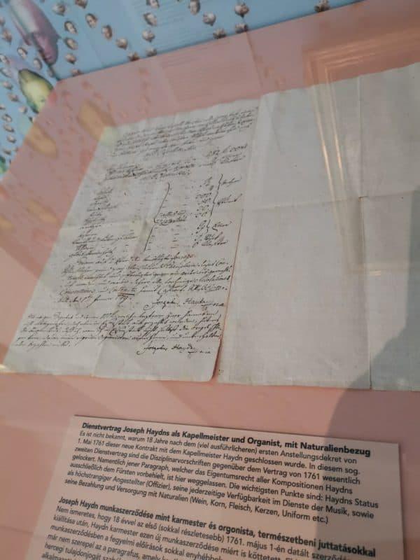 Der Dienstvertrag mit Joseph Haydn
