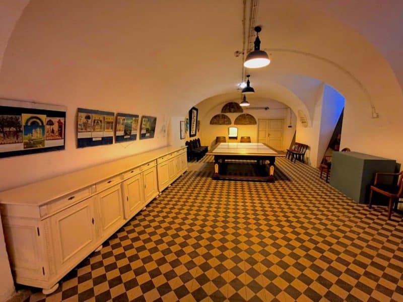 Ein Teil des Küchenbereichs im Schloss Esterházy