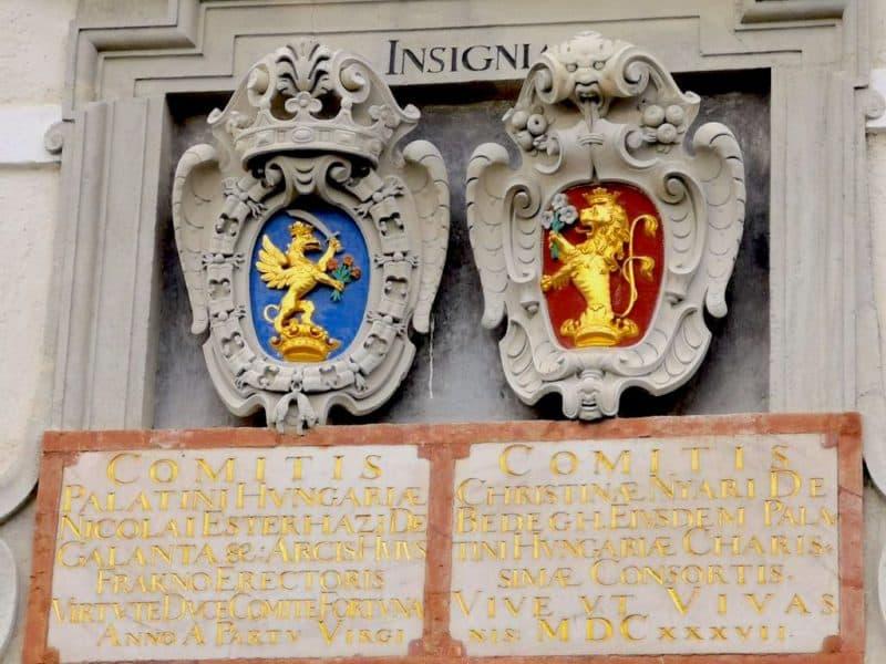 Wappen von Nikolaus Esterhazy und Christina Nyary