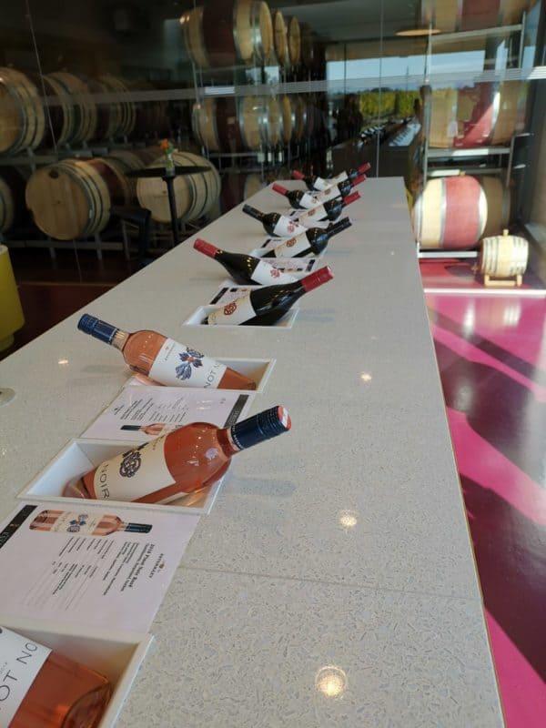 Schöne Präsentation der Weine im Weingut Esterhazy