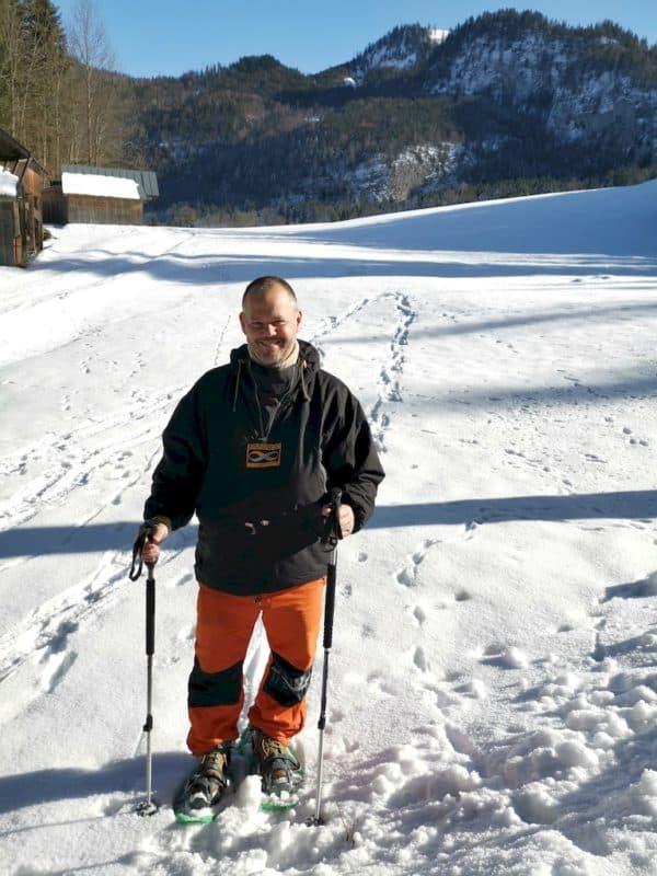 Ich beim Schneeschuhwandern in der Steiermark