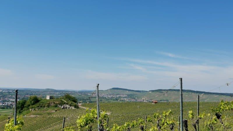 Aussicht unterhalb des Karlstein in Richtung Remstal und der Schützenhüttle