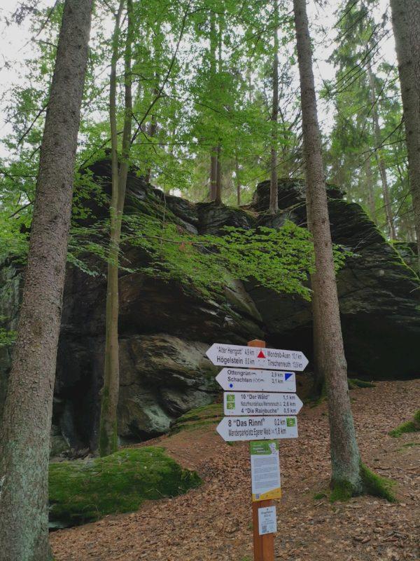 Wegweiser vor dem Ringelstein - 2,6 km noch zurück bis zum Ziel