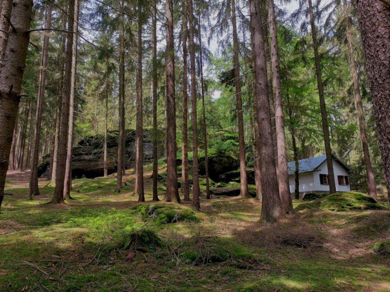 Der Ringelfelsen und die Hütte der Naturfreunde Waldsassen