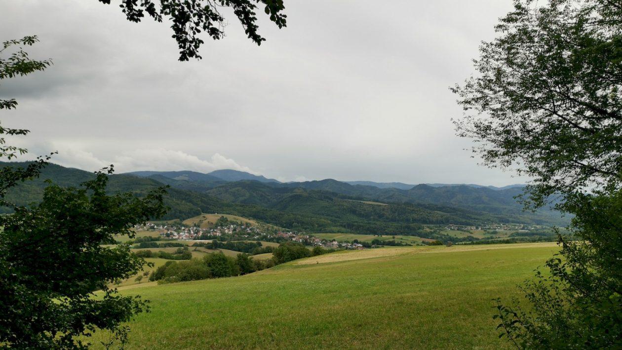 Was für ein wundervoller Ausblick, knapp 2 km vor Ende der Rundwanderung