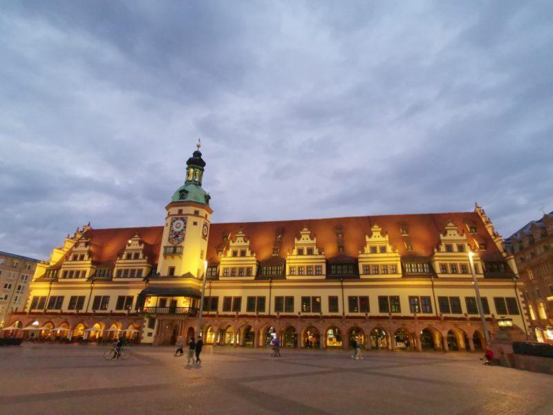 Das alte Rathaus Leipzig bei Nacht
