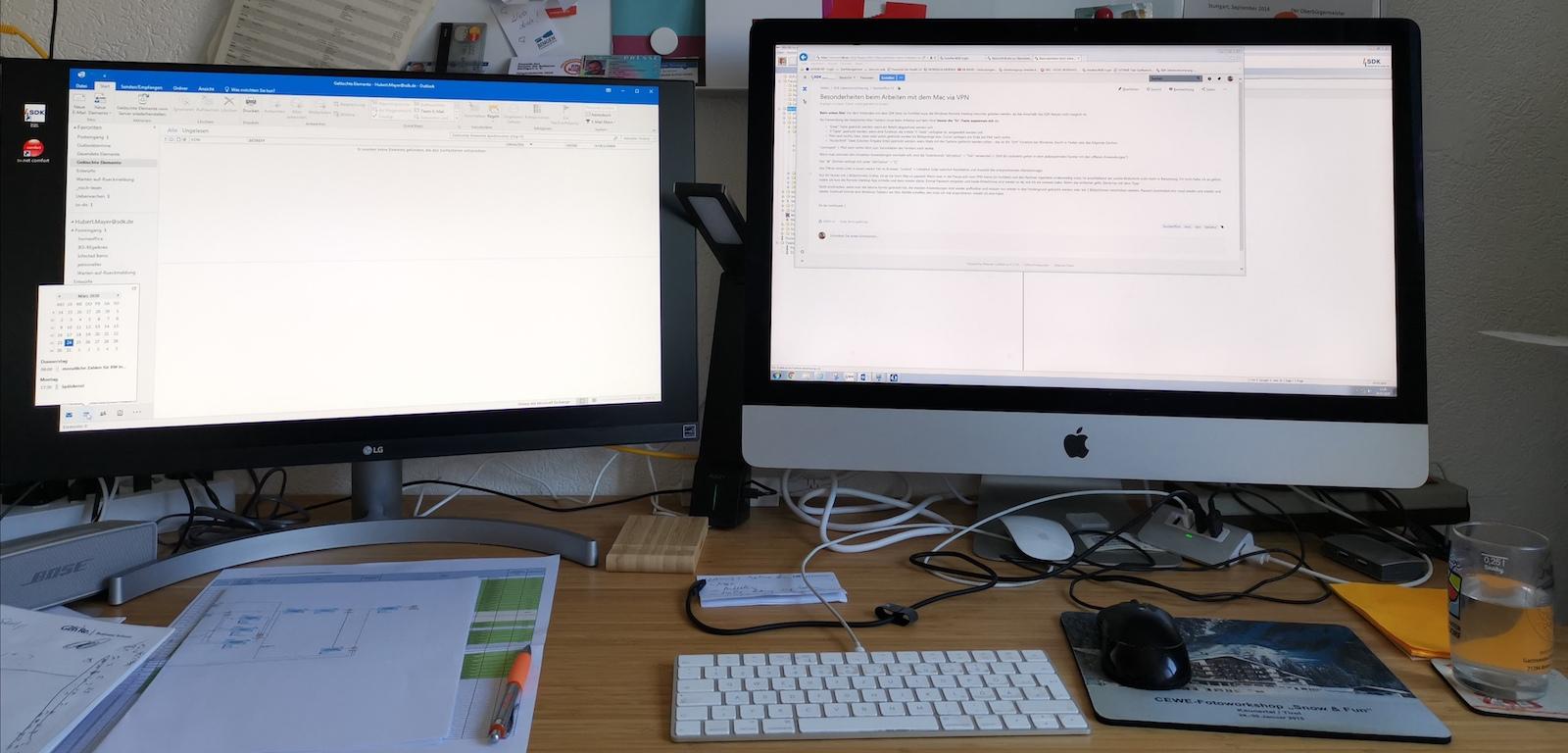 Ursprüngliches Setting zur #HomeOfficeLiebe