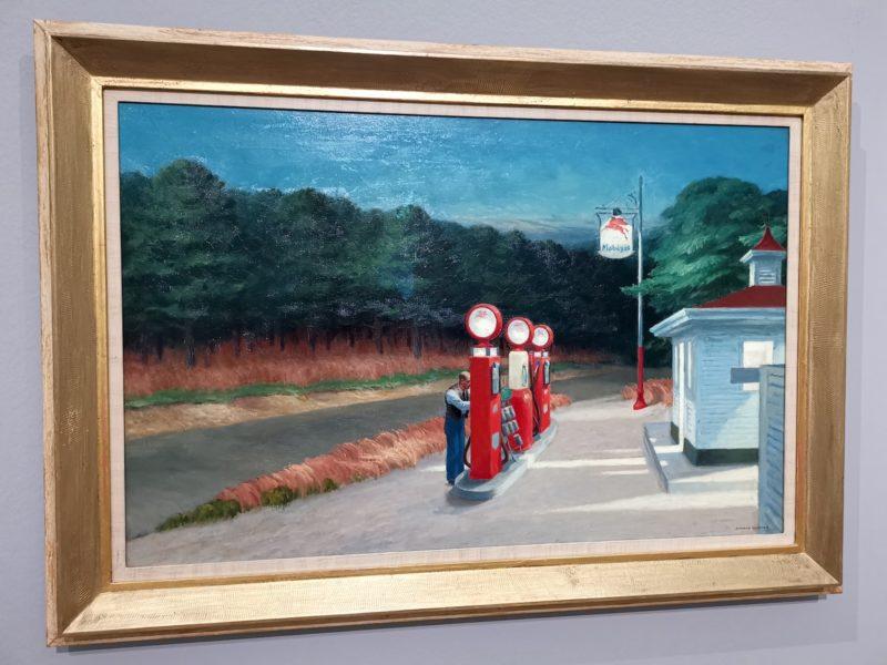 Eines der berühmten Gemälde von Hopper - das sogar mir sehr gut gefällt
