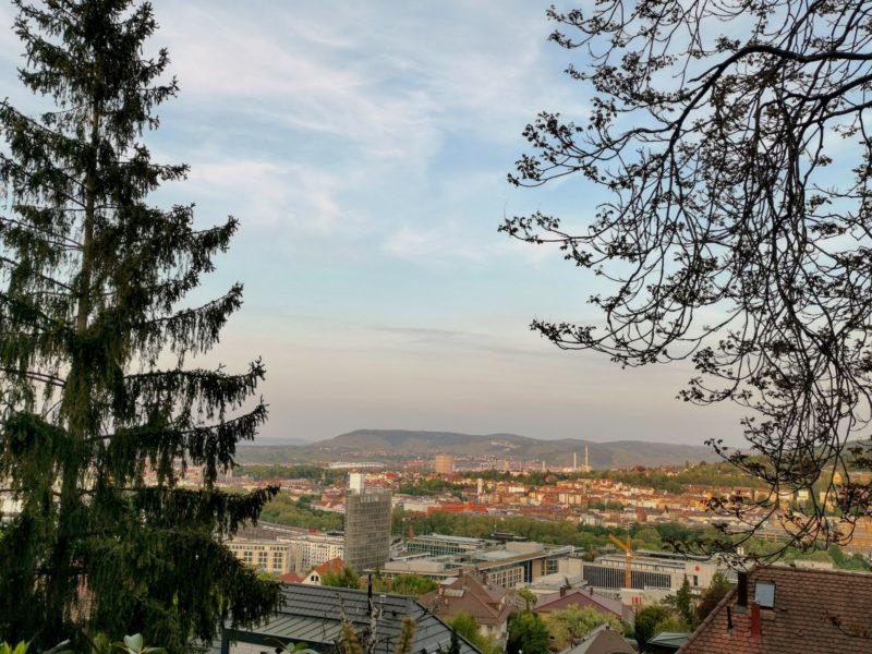 Aussicht über Stuttgart unweit meiner Wohnung