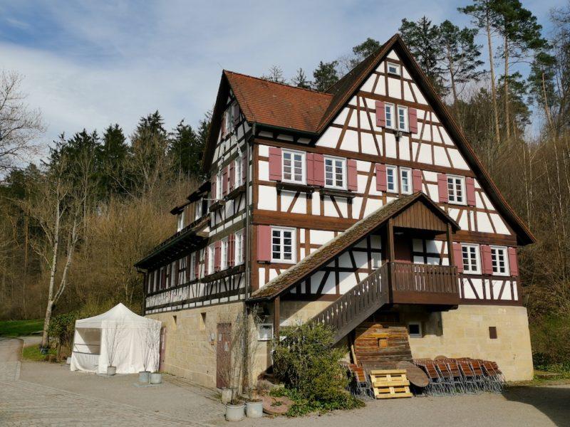 Auch die Mäulesmühle selbst besteht aus einem schönen Fachwerkhaus