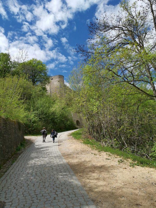 Die letzten Meter zur Burg geht es der gepflasterten Zufahrt