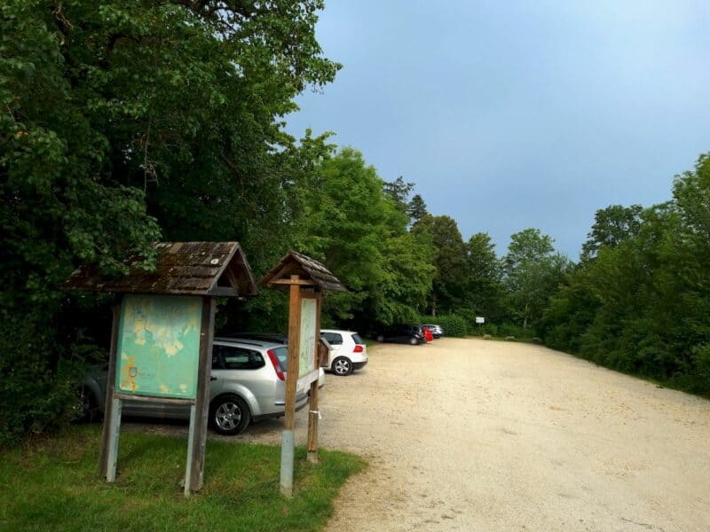 Wanderparkplatz in Bad Boll - schön schattig