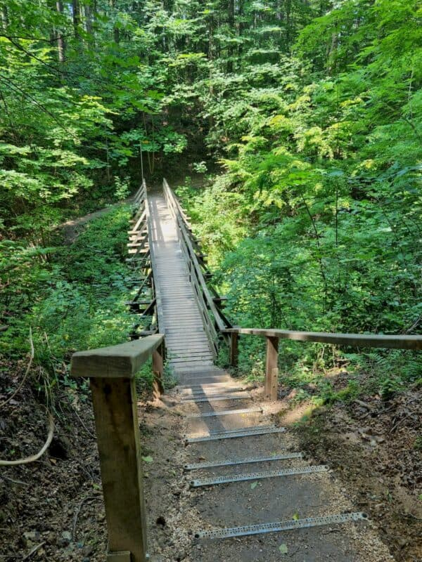 Die Brücke von oben