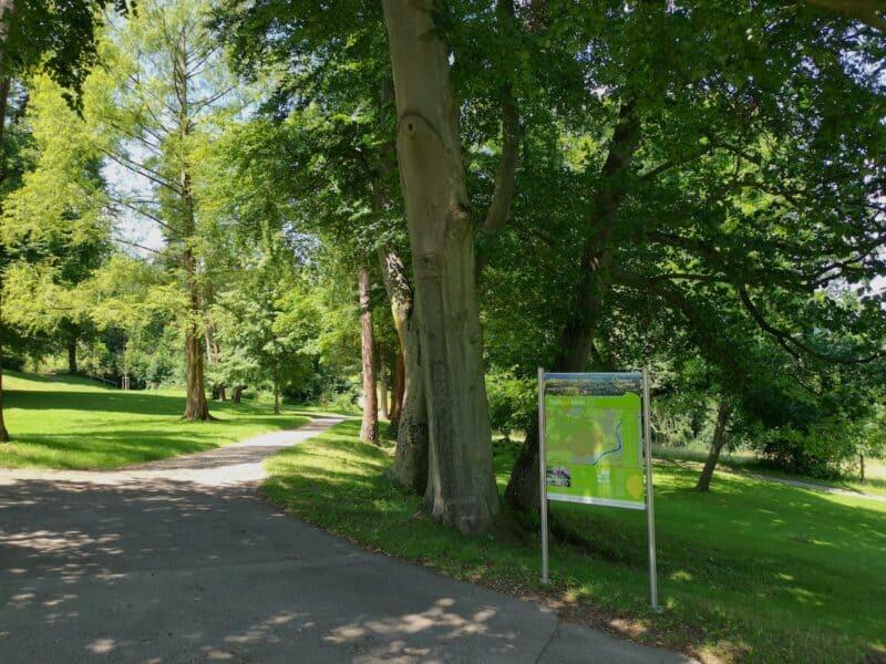 Der Startort der hochgehblickt Rundwanderung im Galgenbergpark Nürtingen
