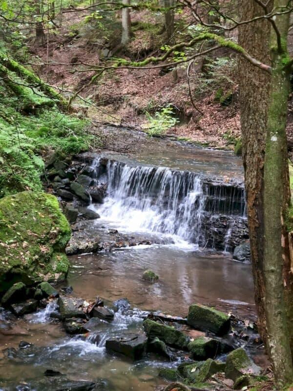 Und soga rnoch ein kleiner Wasserfall erfreut uns hier
