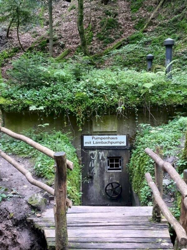 Eingang zur Pumpstation