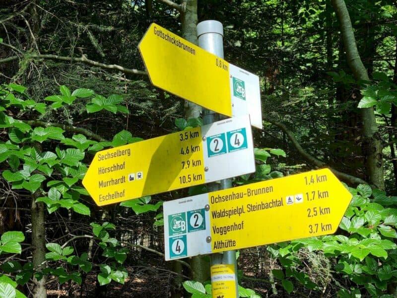 Zahlreiche Wanderwege sind hier ausgeschildert von der Gemeinde Althütte