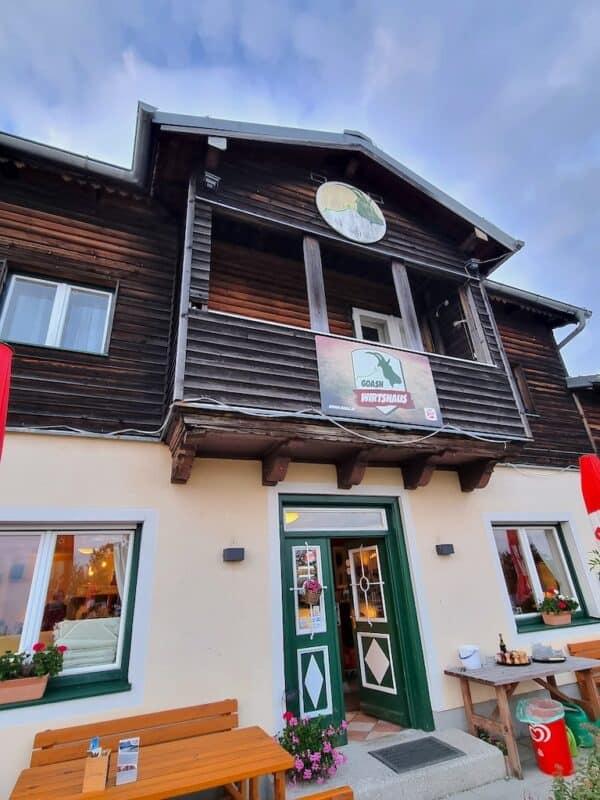 Das Goasn Wirtshaus auf dem Gaisberg