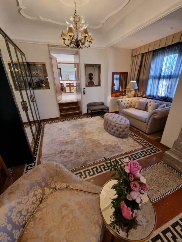 Zimmer in der Möchstein Suite im Schloss Hotel Mönchstein